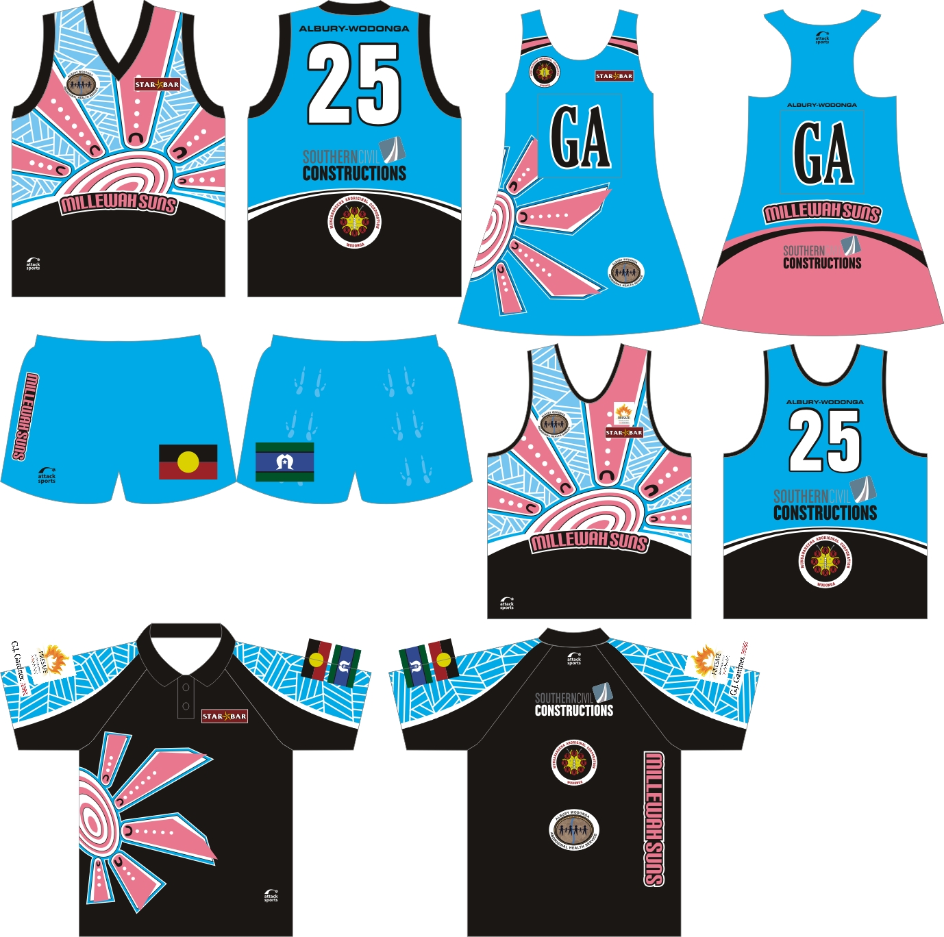 Attack Sports Sublimated Teamwear