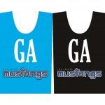 Mustangs Netball Bibs